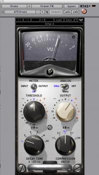 ドラムスで使用したPIEのパラメーター